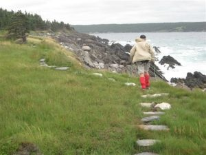 Spurwink Island Path, nearing Port Kirwan