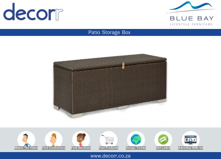 #DecorrOutdoor Patio Storage Box http://www.decorr.co.za/blue-bay/ #decorrpromo