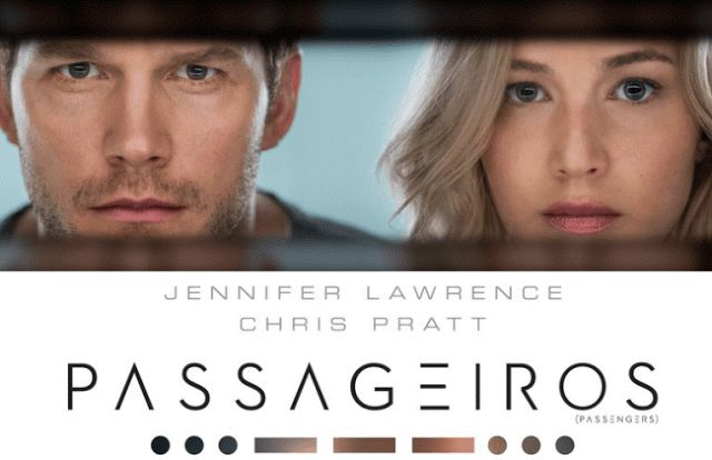 Filme: Passageiros, 2016. Com Chris Pratt e Jennifer Lawrence como Jim Preston e Aurora Lane nos papéis principais. #movie #2016 #passengers #jenniferlawrence #chrispratt #auroralane #jimpreston