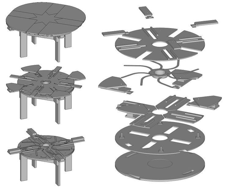 Build Your Own Expanding Table   Plans Composite