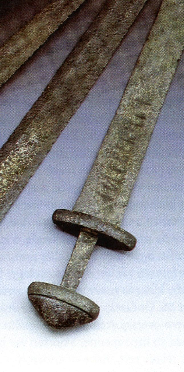 what were viking weapons made of The hilts of the swords were of various shapes and were made of bone, antler or precious metals such as gold and silver the sword was an expensive weapon and therefore much effort was put into decorating its handle.