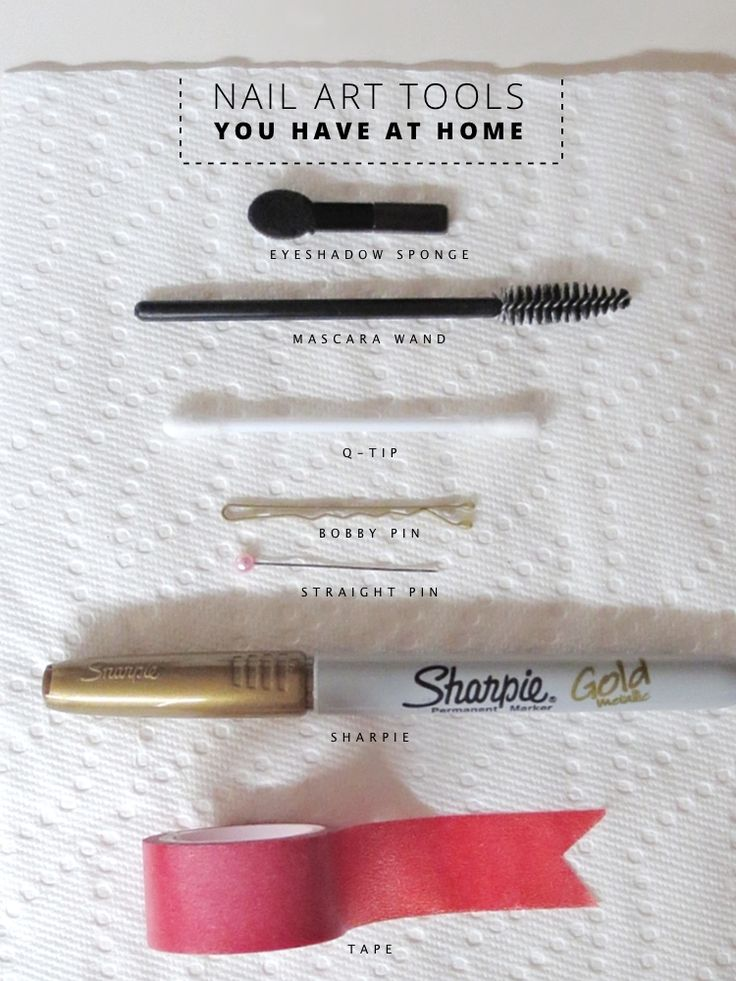10 Nail Art Tools You Have at Home! See how to use them to create fun nail designs at HowtobeFancy.com