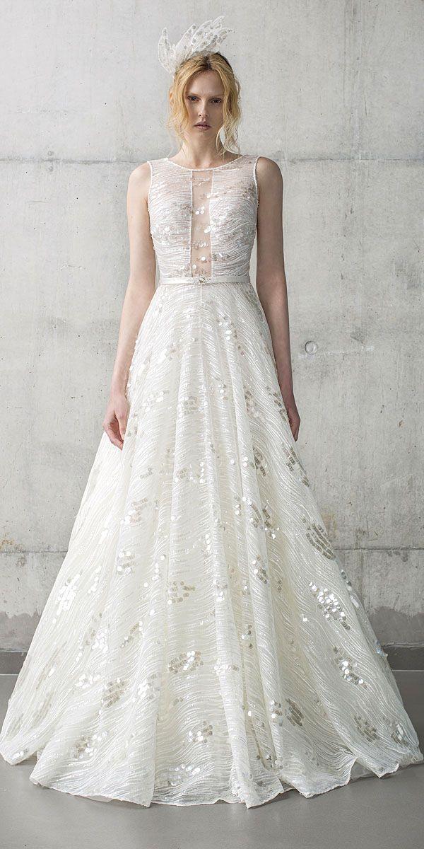 24 Modern Jeweled Wedding Dresses