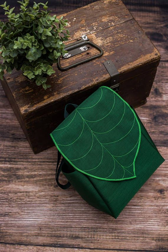 Custom Leaf Midi Backpack Woman's Backpack Waterproof