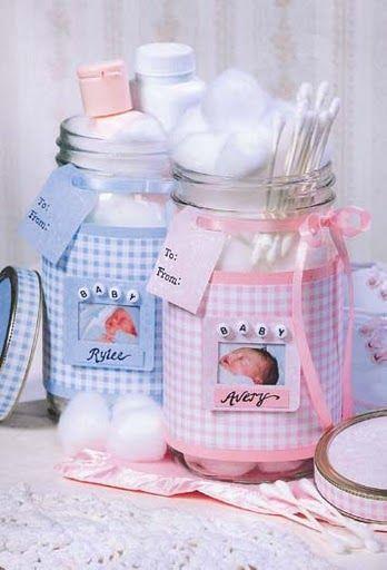 Como hacer un recuerdo para Baby Shower con frascos