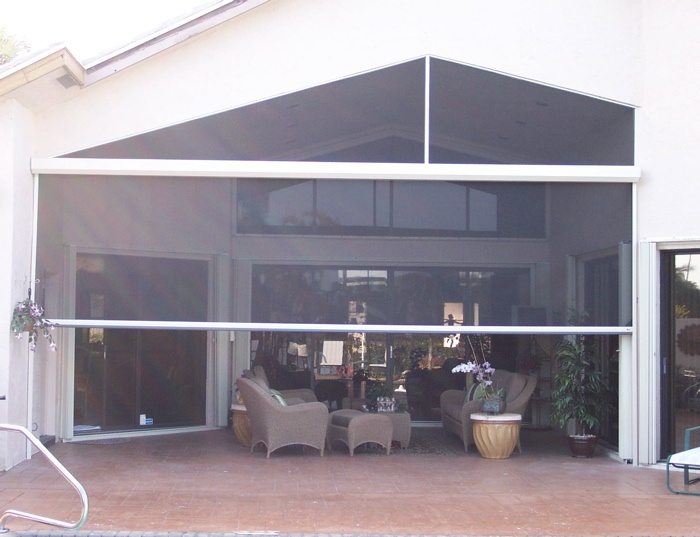 8 best ideas about retractable screens on pinterest for Retractable patio screens