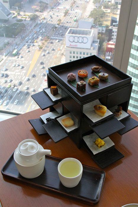 Korean afternoon tea at the Park Hyatt in Seoul. Photo by Simon Richmond