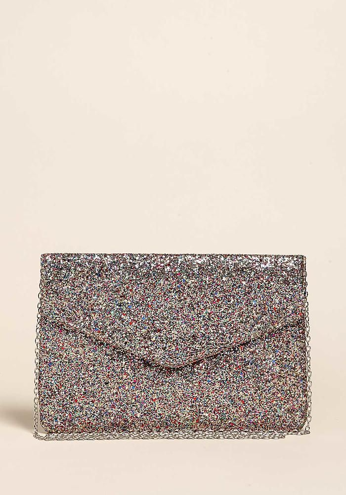 Multi Glitter Envelope Clutch - Bags - Accessories