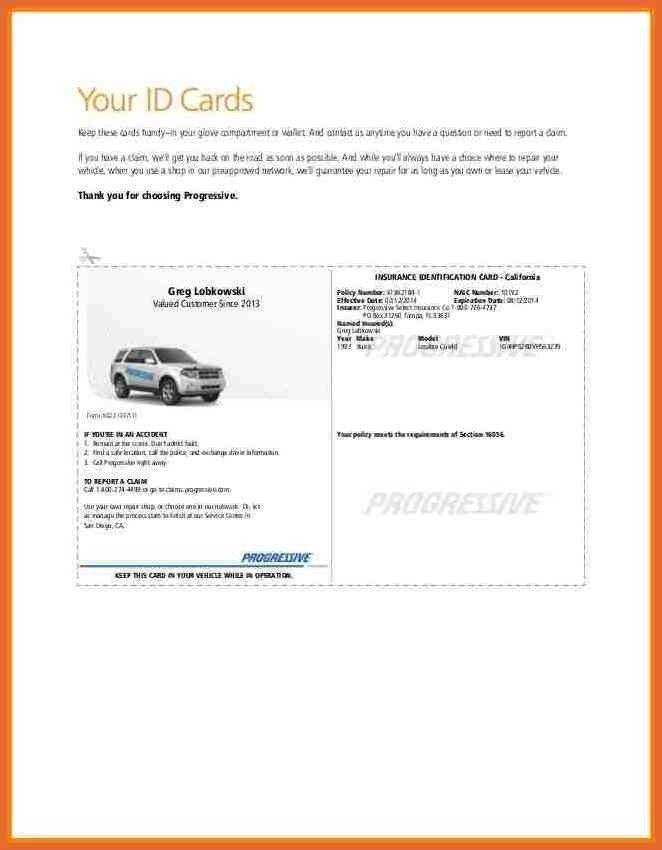 Progressive Auto Insurance Card Template Pdf Auto Insurance Cards Templates Insurance Card Temp Insurance Printable Id Card Template Progressive Insurance