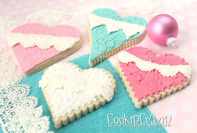 Cookie Crazie: Edible Clay Lace Valentine Heart Cookies (Tutorial)