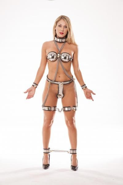 Stainless Steel Female Bondage Suit - An Extremely Unique -5459