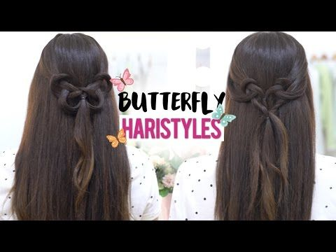 Beautiful butterfly hairstyles tutorial - YouTube