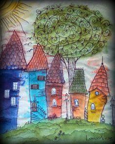Drawing thread-houses by ZerVir www.facebook.com/ZerVir