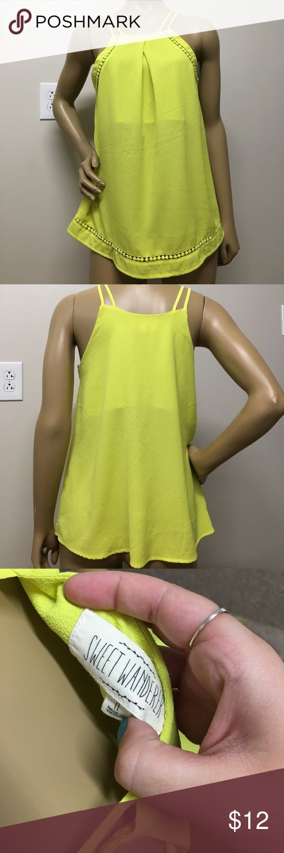 Yellow Tank Top Unique design with cute details. Lightly worn. Shows minimal wear Urban Outfitters Tops Tank Tops
