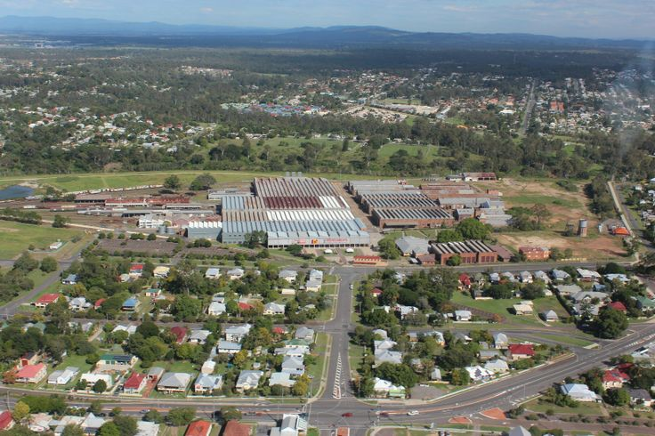 I can see the Museum from here! A wonderful aerial photo of the Ipswich Railway Workshops site by our friends Pterodactyl Helicopters, taken on 12 April 2014.