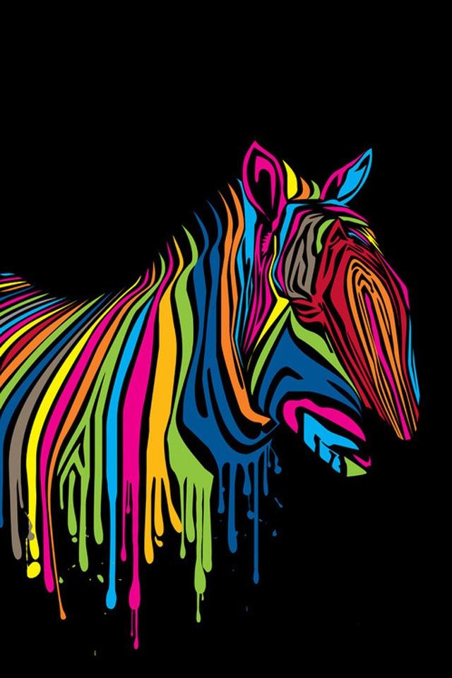 Colorful Zebra Print Nail Art Tutorial: Colorful Zebra
