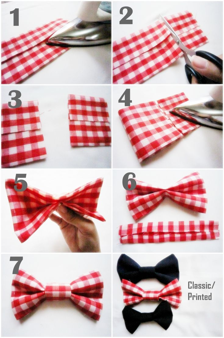 No sew bow tie tutorial. Yes I will be making bow ties for my dogs for Christmas :-)