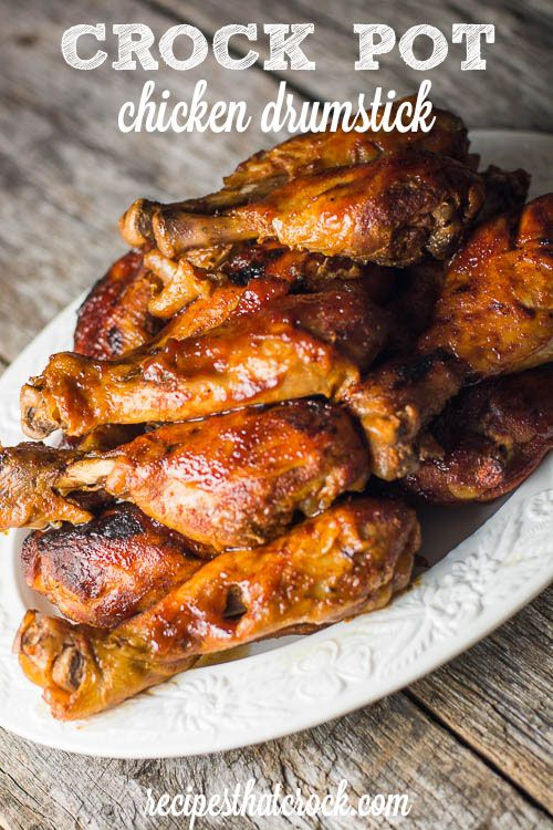 Our favourite way to do drumsticks in the crockpot! Broil them for a few minutes on each side afterwards and they are great!