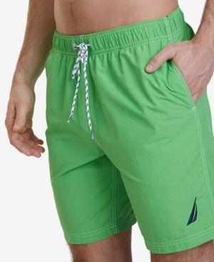 Nautica Men's Swim Trunks - Green 2XLT