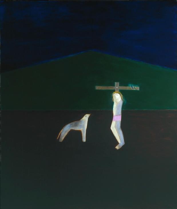 Craigie Aitchison 'Crucifixion 9', 1987 © The estate of Craigie Aitchison