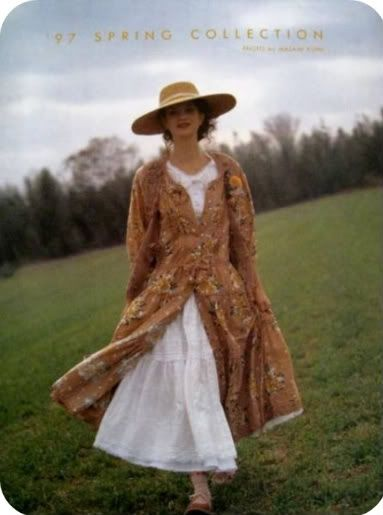 The ideal, romantic lifestyle and period fashions from Western literary classics such as Anne of Green Gables, The Secret Garden, Rebecca of Sunnybrook Farm, and Little House on the Prairie were most likely one influence on the creation of natural kei because those series were very popular with young Japanese girls around that time.