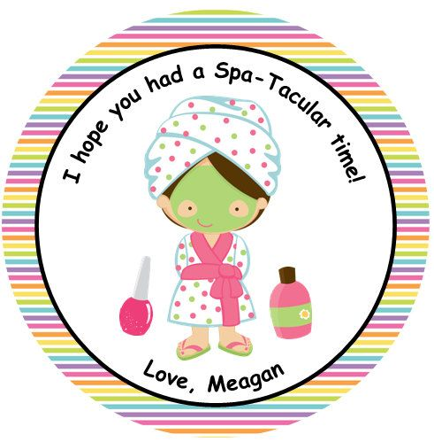 12 Personalized Spa Spa Tacular Birthday Party Supplies
