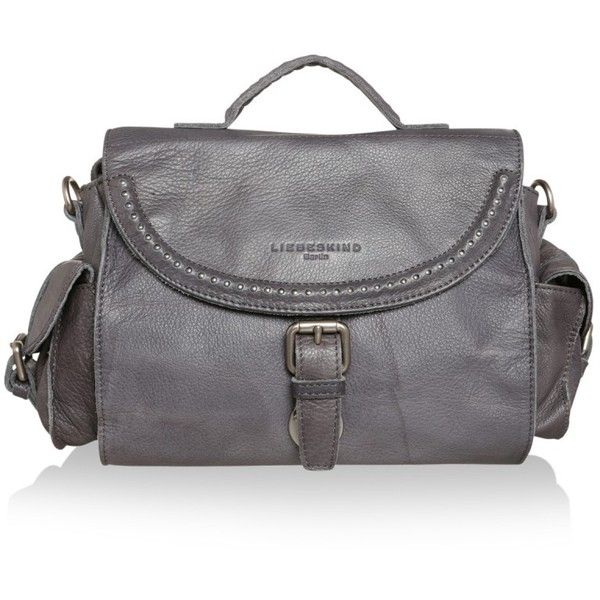 Liebeskind Caprice 3D Studs Double Dye Dark Grey in grey, Shoulder... (175 AUD) ❤ liked on Polyvore featuring bags, handbags, shoulder bags, grey, leather handbags, leather shoulder bag, gray leather purse, leather shoulder handbags and grey leather shoulder bag