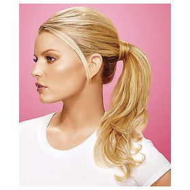 "For ""The Phony Tail"" tutorial we used this ponytail extension in ""Buttered"
