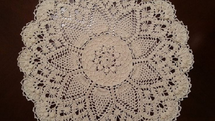 Splendid Pineapples Doily Part 1--this is part 1 of several parts on this doily...