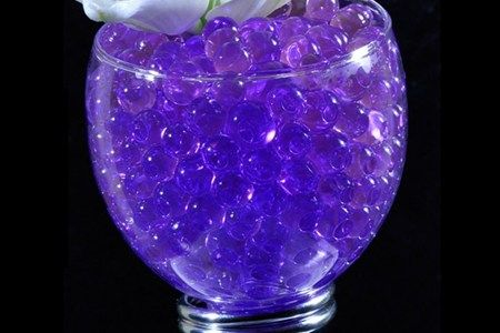 Purple Water Crystal Beads or Jelly balls is an alternative for pebbles or sand in your Centrepiece.