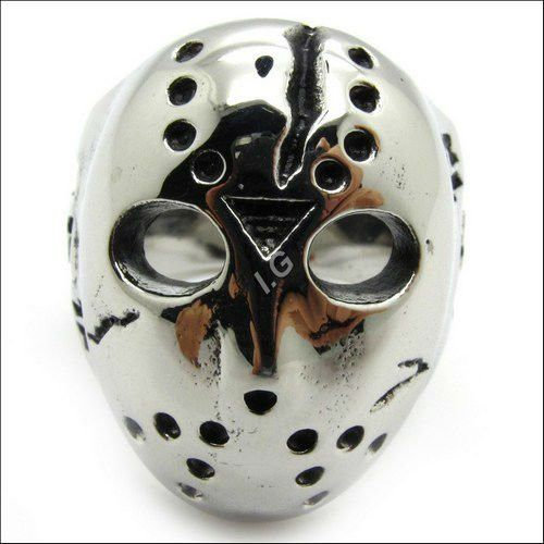 Jason Mask Ring Stainless Steel