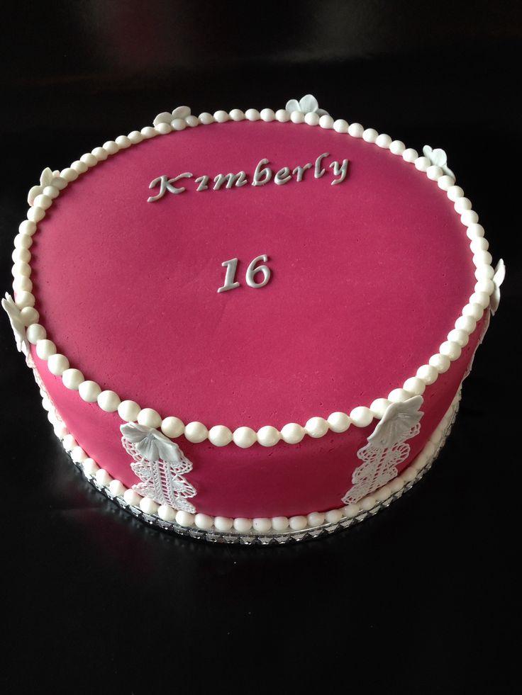 Roze taart graag