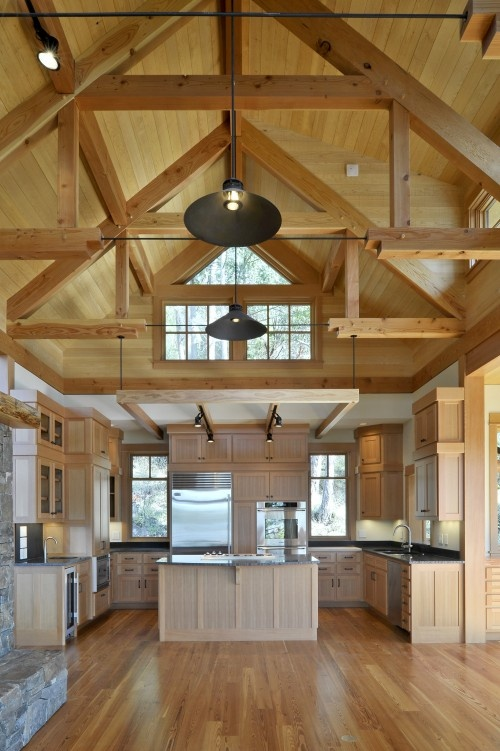 20 best images about floors ceilings on pinterest for Vaulted ceiling with exposed trusses