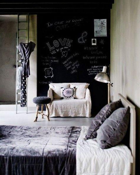 Charmant ComfyDwelling.com » Blog Archive » 30 Creative Chalkboard Bedroom Decor  Ideas