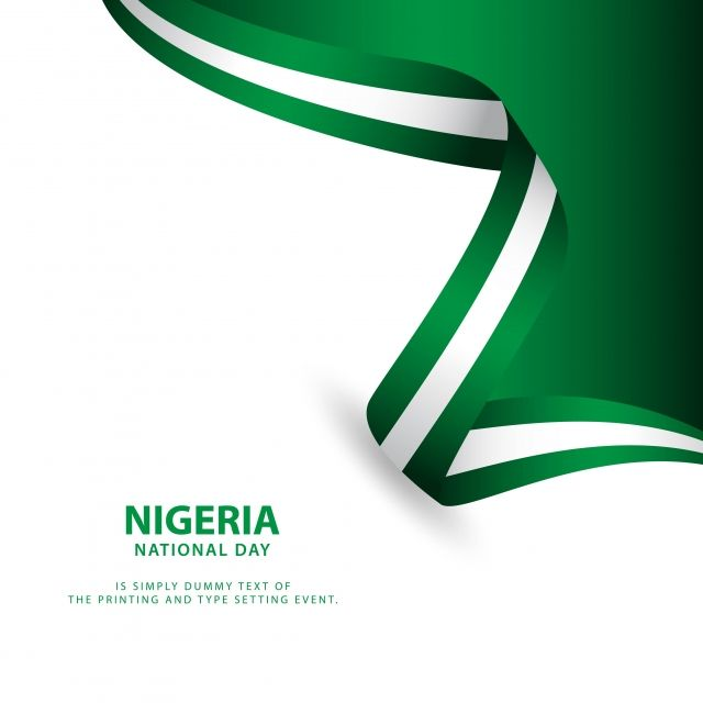 Nigeria Independence Day Vector Template Design Illustration Vector And Png Illustration Design Template Design Nigeria Independence