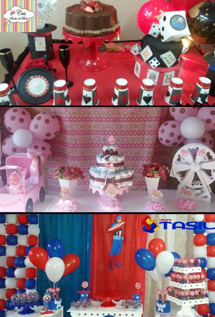 Três decoração diferente Cabaré, Ursinha e Super Herói da nossa parceira, os produtos utilizados são: Boleira, Tubetes, Cúpula e Baú. quer saber mais acesse www.tasil.com.br e curta nossas páginas👇. Facebook:👉https://www.facebook.com/GrupoTASIL/ Instagram:📱https://www.instagram.com/grupotasil/ Pinterest:🎬https://br.pinterest.com/GrupoTasil/pins/ #Lembrancinhas #Tasil #Boleira #Cúpula #Tubete #Baú #SonhodeBolo #Decoração #Infantil
