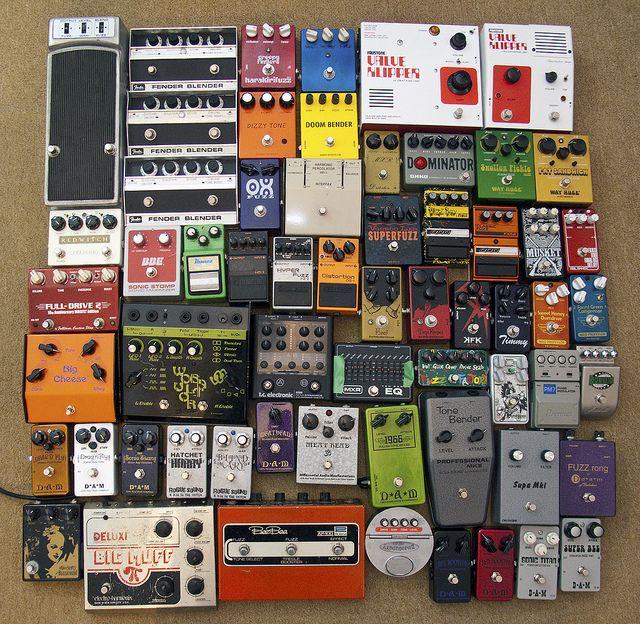 61 Guitar pedals by Terekhova, via Flickr http://www.guitarandmusicinstitute.com