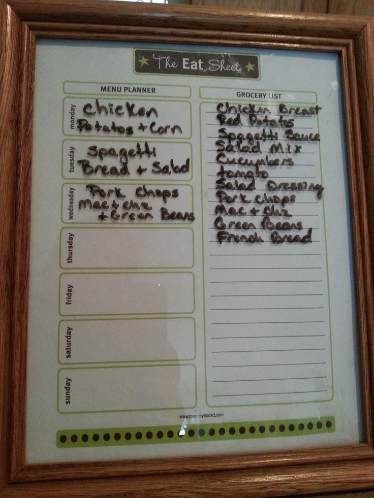 DIY Reusable Weekly Meal Planner