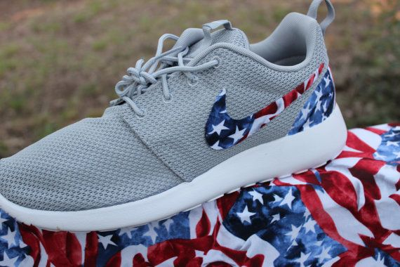 Nike Roshe Run American Flag by GrabbKicks on Etsy