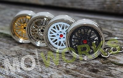 Keychain for BBS LM wheels keyring turbo auto rims JDM USDM spare parts