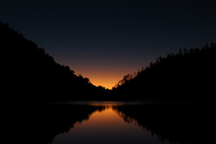 Sunrise at Ranu Kumbolo, Mt. Semeru, Indonesia