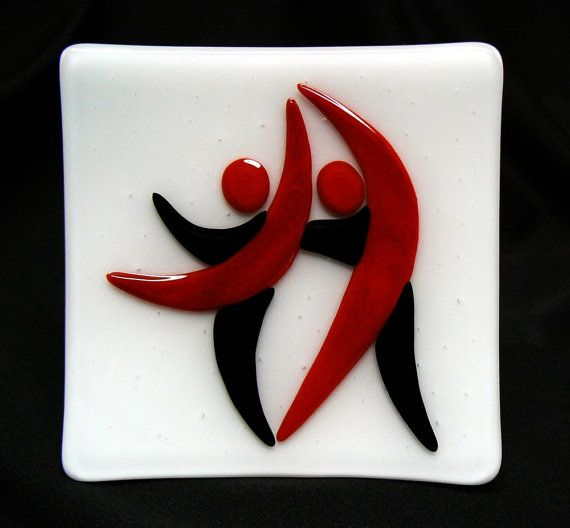 Dancing Couple Sushi Style Dish 3 by jbls on Etsy