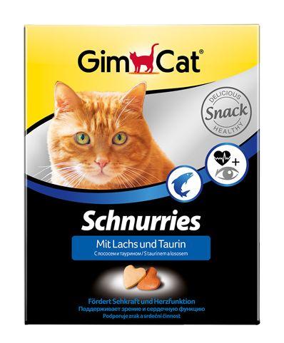 Витамины для кошек Джимпет сердечки таурин/лосось, уп. 420г (650 шт.)