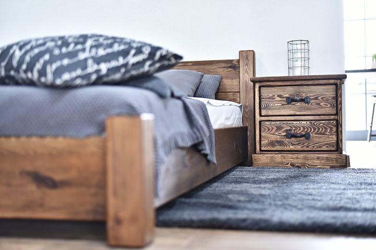 meble drewniane o sypialni styl rustykalny
