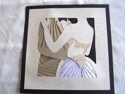 Couple en irish folding - gabarit