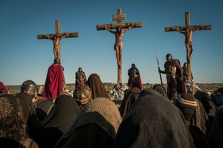 Crucifixion scene in #BenHur2016 on this #AshWednesday2017