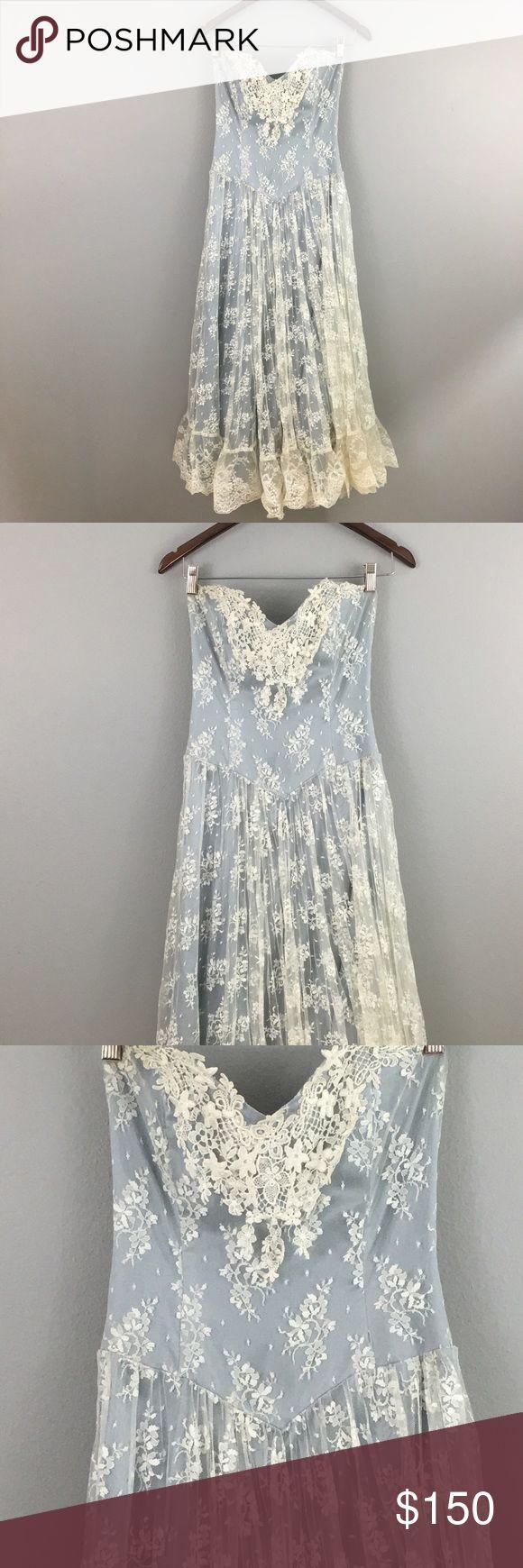 Jessica McClintock Vintage Lace Wedding Dress! Size 8! Romantic Whimsical Jessica McClintock Vintage Ivory Lace Wedding Dress! Jessica McClintock Dresses