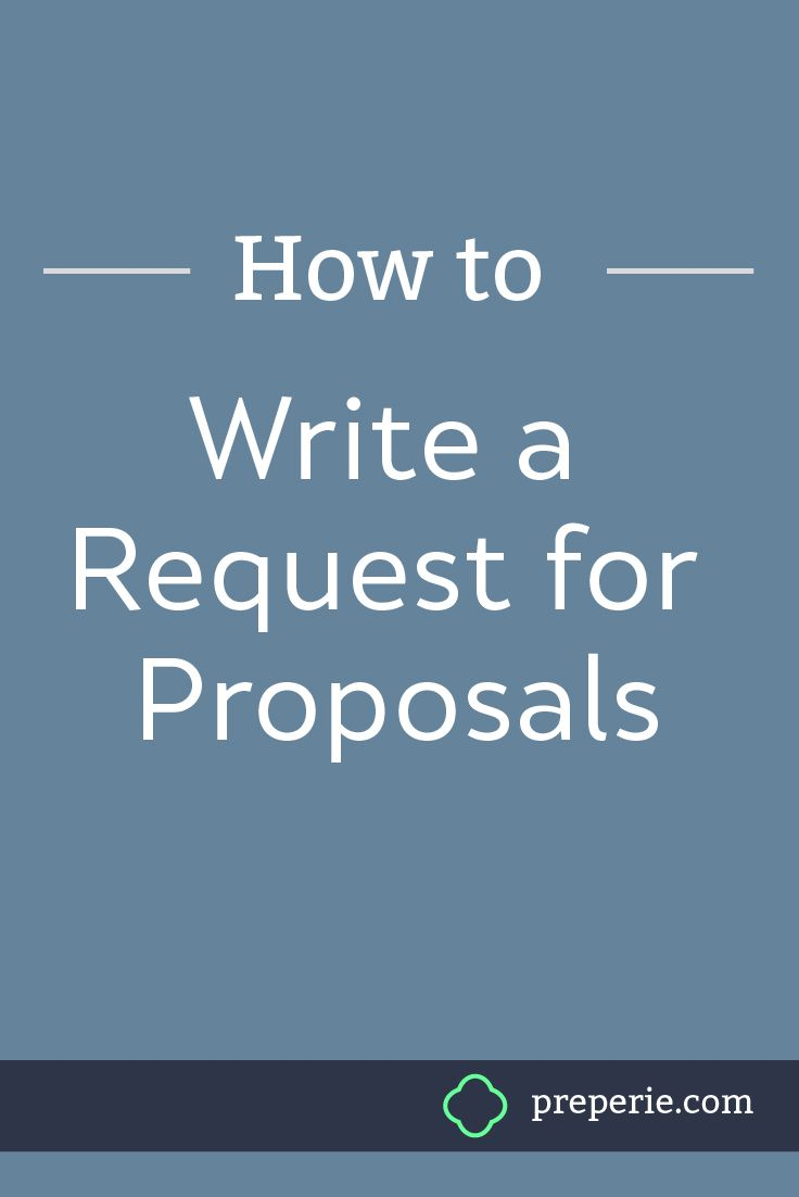 How to Write an Effective Request For Proposal