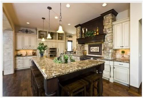 Dark and Light  Old World Kitchens in 2019  Tuscan kitchen design Tuscany kitchen Kitchen