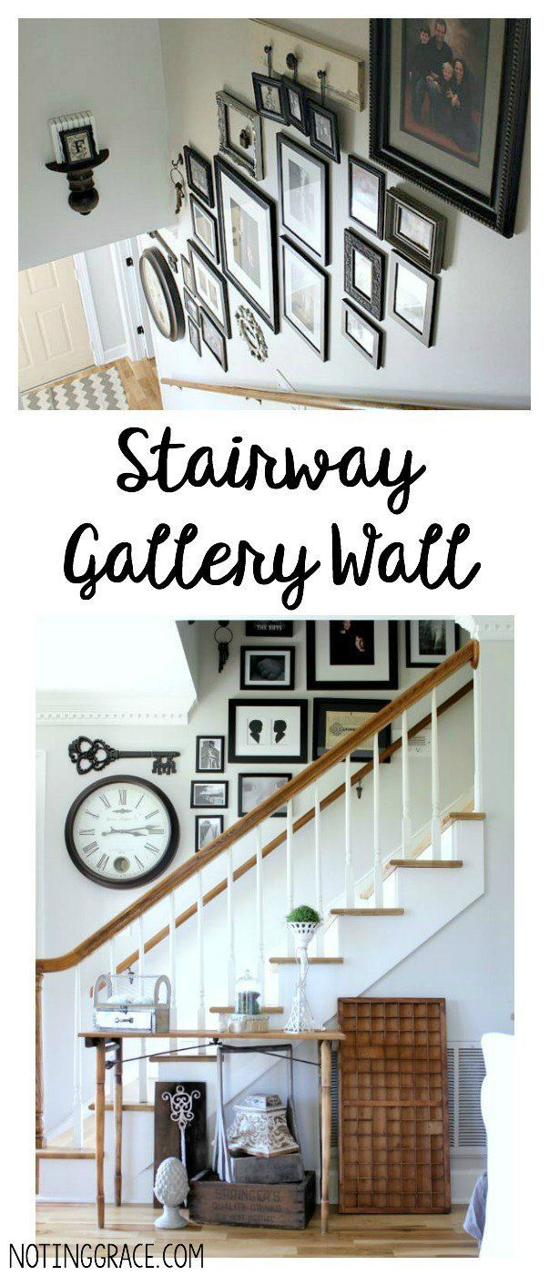 Creating a Stairway Gallery Wall in our entryway was a fun and easy project we were able to complete in one afternoon and on a budget!